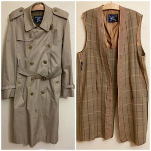 Vintage Burberrys Prorsum Wool Lined Trench Coat